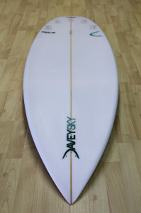 DaveySKY Surfboards Turbo Ripper bottom