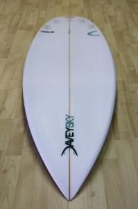 DaveySKY Surfboards Turbo Ripper bottom