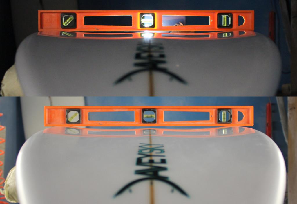 DaveySKY Surfboards Turbo Ripper concaves / bottom contours
